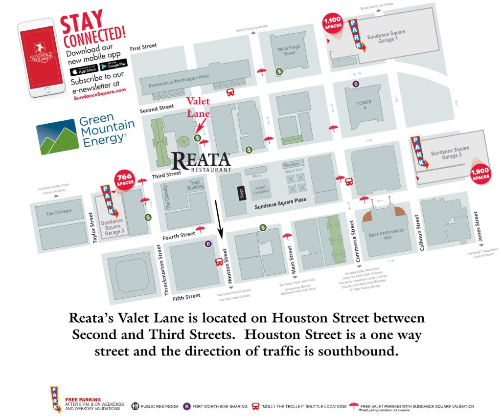 Parking Map - Sundance Square and Reata