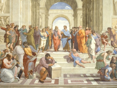 Raphael's famous painting School of Athens