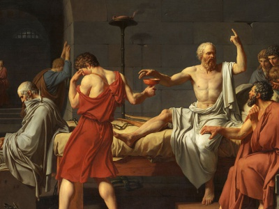 Painting depicting the Death of Socrates